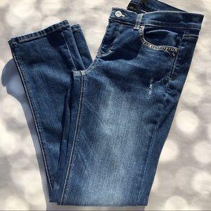 White House Black Market Slim Ankle Noir Jeans 6R